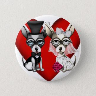 Puppy Love 2 Inch Round Button