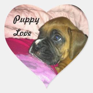 Puppy Love Boxer Sticker Dexter