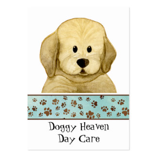 """Puppy Love,"" Brown Puppy Paws Art Doggy Day Care Business Cards"
