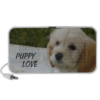 Puppy Love - Cute MaltiPoo Dog Photo Travel Speaker