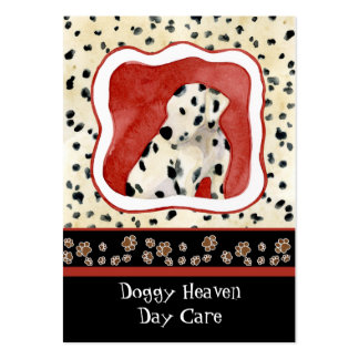 """""""Puppy Love,"""" Dalmatian Puppy Art by Audrey Jeanne Business Card Templates"""