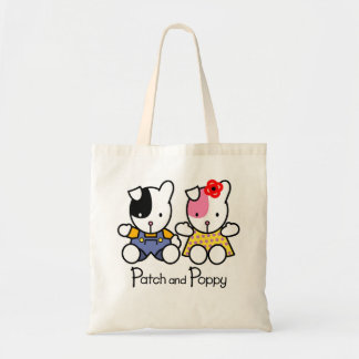 Puppy Love designs 'PATCH and POPPY'  tote bag.