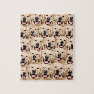 Puppy Love Golden Retrievers Dogs Jigsaw Puzzle