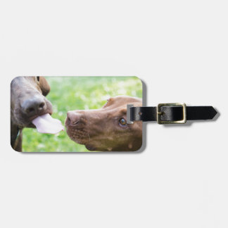 Puppy love luggage tag