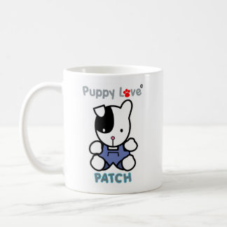 Puppy Love 'PATCH' the puppy. Classic White Coffee Mug