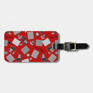 Puppy Love Scotty Terrier Red Luggage Tag
