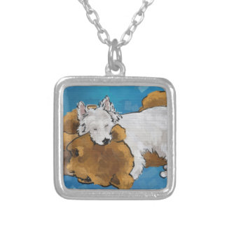 Puppy Love Silver Plated Necklace
