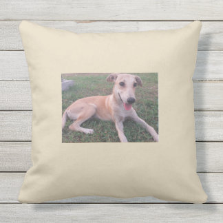 Puppy love, smile, dog, simplicity throw pillow