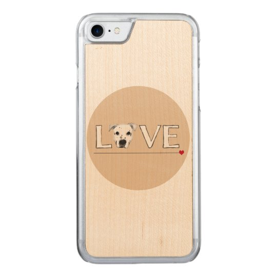 Puppy Love Text Art Carved iPhone 7 Case