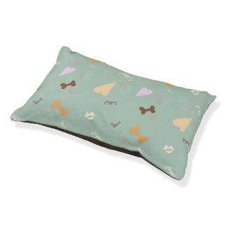 Puppy Love Trendy Teal Small Dog Bed
