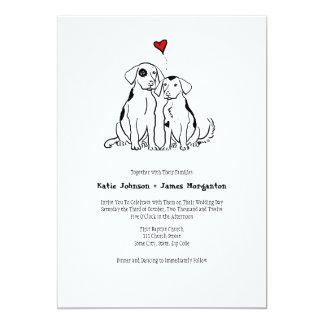 Puppy Love Wedding Invitation