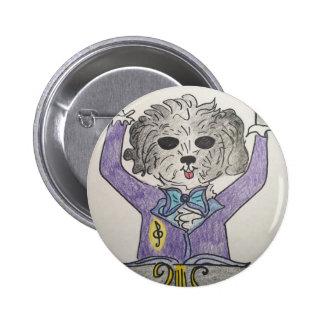 Puppy Maestro 2 Inch Round Button