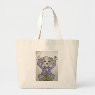 Puppy Maestro Large Tote Bag