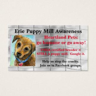 Puppy Mill Awareness business card