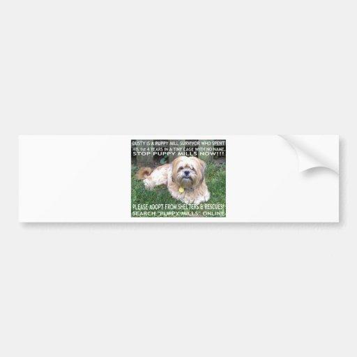 Puppy Mill Survivor - Give Mill Dogs a 2nd Chance! Bumper Sticker