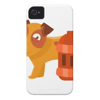 Puppy Next To Vintage Red Lantern iPhone 4 Case-Mate Case