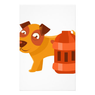 Puppy Next To Vintage Red Lantern Stationery