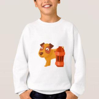 Puppy Next To Vintage Red Lantern Sweatshirt