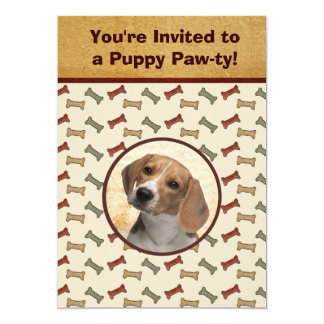 Puppy Party Dog Event Custom Photo Personalized Invitation