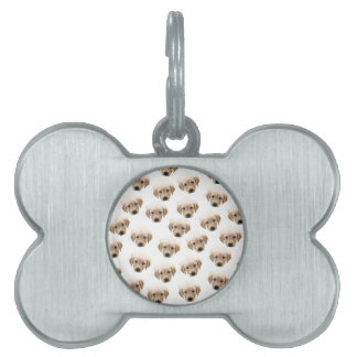 puppy pattern pet tag