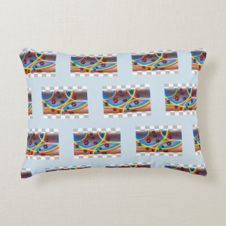 Puppy Paws & Rainbows Pillow