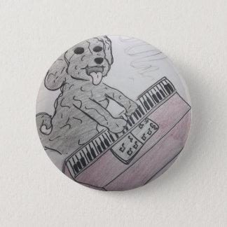 puppy piano 2 inch round button