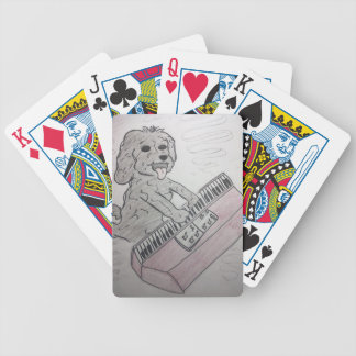puppy piano bicycle playing cards