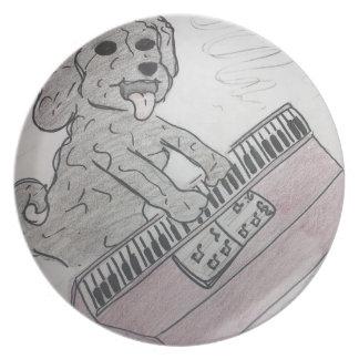puppy piano plate