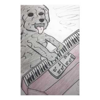 puppy piano stationery