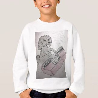 puppy piano sweatshirt