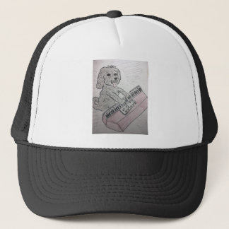 puppy piano trucker hat