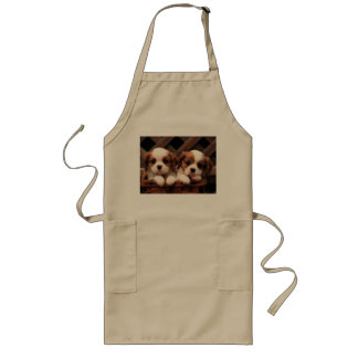 Puppy Pictures Long Apron