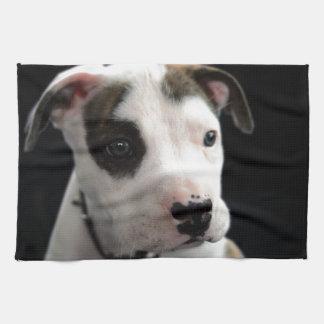 Puppy Pit Bull T-Bone Hand Towels
