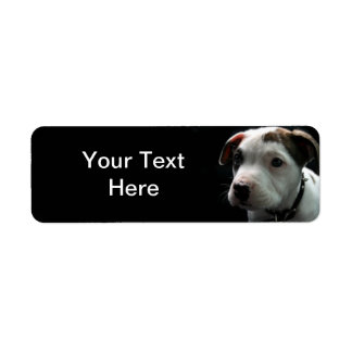 Puppy Pit Bull T-Bone Return Address Label