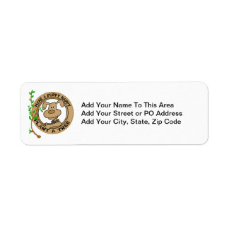 Puppy Plant a Tree T-shirts and Gifts Return Address Label