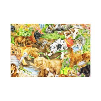 Puppy Play Canvas Print