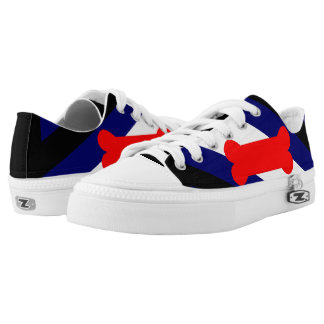 Puppy Play Pride Flag Custom Zipz Low Top Shoes