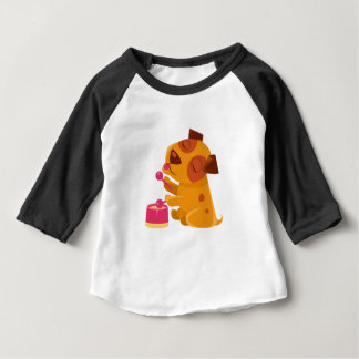 Puppy Playing Drums And Singing Baby T-Shirt