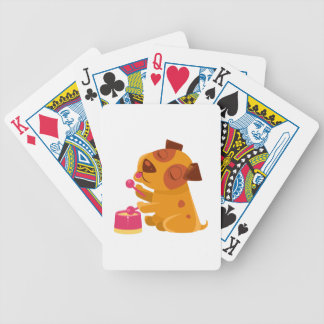 Puppy Playing Drums And Singing Bicycle Playing Cards
