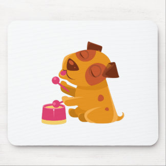 Puppy Playing Drums And Singing Mouse Pad