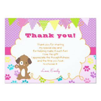Puppy Polka Paws Thank You Card