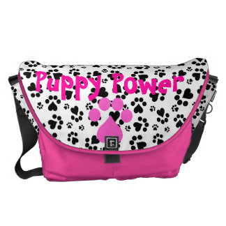 Puppy Power - Paw Print -  Animal lovers Courier Bags