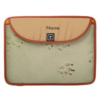 Puppy prints in the sand sleeve for MacBooks