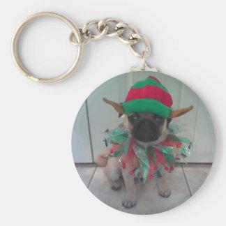 Puppy Pug Elf Keychain