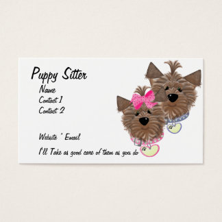Puppy Sitter Business Card