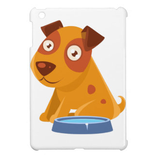 Puppy Sitting Next To The Bowl With Water iPad Mini Cover