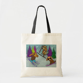 Puppy Ski Vacation Tote Bag