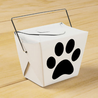 Puppy take out party favor boxes