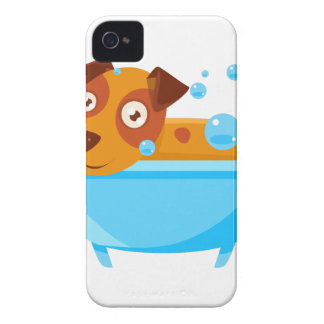 Puppy Taking A Bubble Bath In  Tub iPhone 4 Cover
