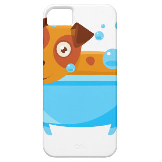 Puppy Taking A Bubble Bath In  Tub iPhone 5 Case